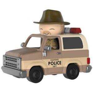 Figura Funko Dorbz Ridez Stranger Things Hopper and Sheriff Deputy Truck