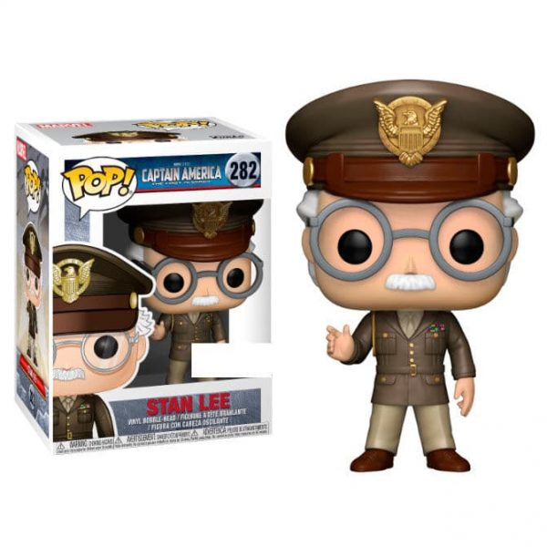 Figura POP Captain America Stan Lee Stan Cameo Army General Exclusive