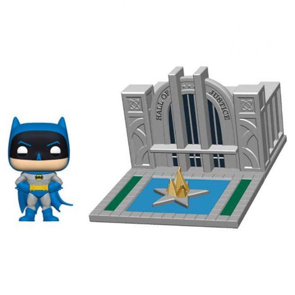 Figura POP DC Comics Batman 80th Hall of Justice with Batman