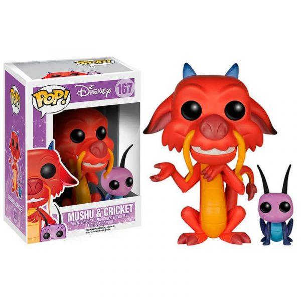 Figura POP Disney Mulan Mushu & Cricket