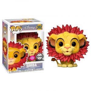 Funko Pop! Simba (Melena de Hojas) [El Rey León] Flocked Exclusivo