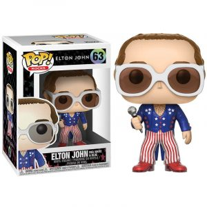 Funko Pop! Elton John (Rojo, blanco y azul)