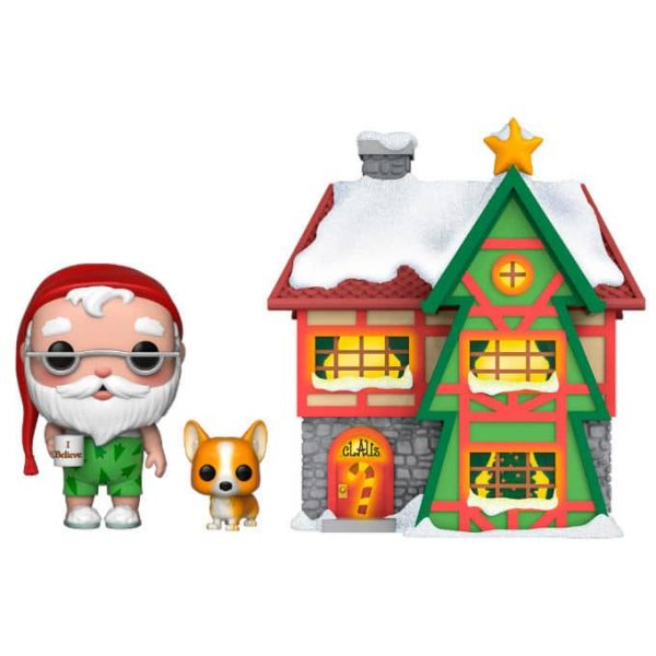 Figura POP Holiday Santa House with Santa & Nutmeg