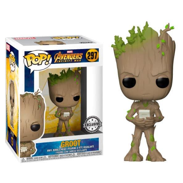 Figura POP Marvel Avengers Infinity Teen Groot with Video Game Exclusive