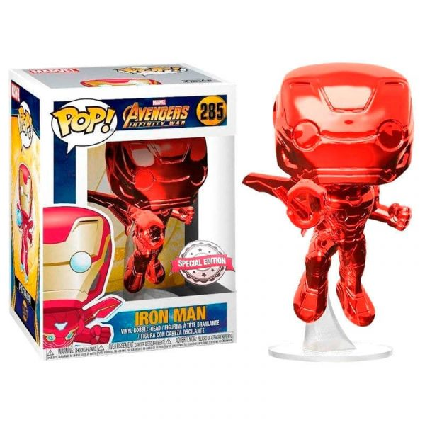 Figura POP Marvel Avengers Infinity War Iron Man Red Exclusive