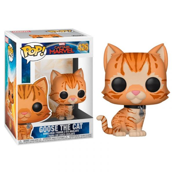 Figura POP Marvel Capitana Marvel Goose the Cat