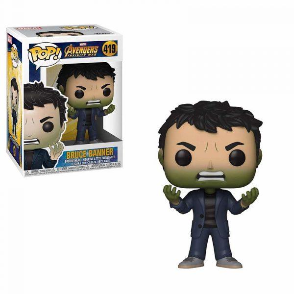 Figura POP Marvel Infinity War Bruce Banner Hulk Head