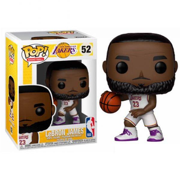 Figura POP NBA Lakers Lebron James White Uniform
