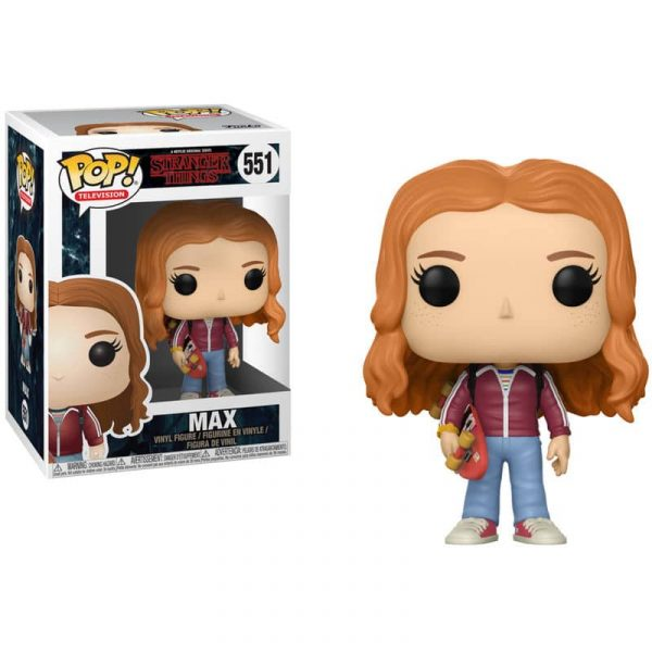 Figura POP Stranger Things Max with skate deck