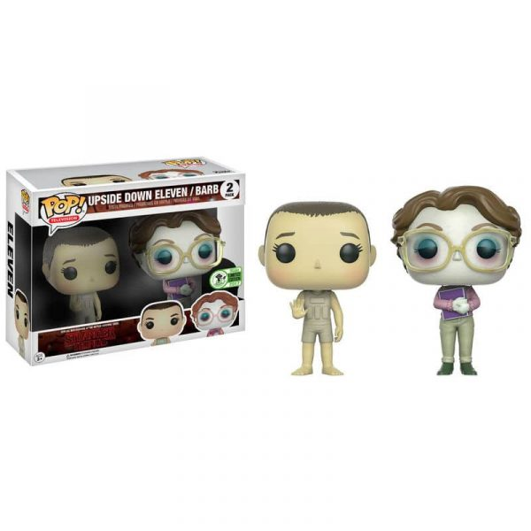 Pack 2 figuras POP! Stranger Things Upside Down Eleven & Barb ECCC 2017 Exclusive