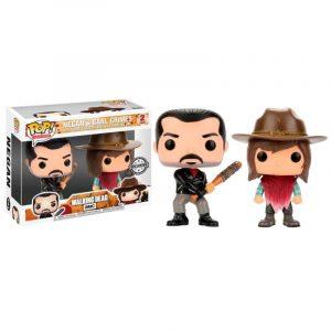 Pack 2 Funko Pop! Negan & Carl [The Walking Dead] Exclusivo