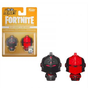 Pack 2 figuras Pint Size Fortnite Black Knight & Red Knight