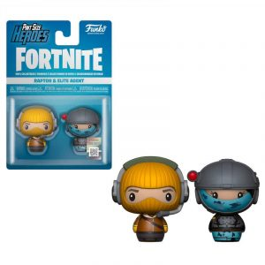 Pack 2 figuras Pint Size Fortnite Raptor & Elite Agent