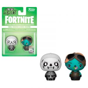 Pack 2 figuras Pint Size Fortnite Skull Trooper & Ghoul Trooper