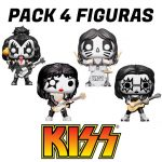 Pack 4 Figuras Funko Pop Kiss