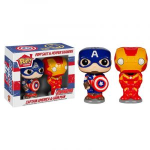 Pop! Home Salt & Pepper Shakers – Capitán América & Iron Man