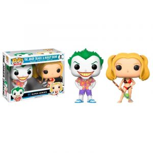 Pack 2 Funko Pop! The Joker (Beach) & Harley Exclusivo [DC Super Heroes]
