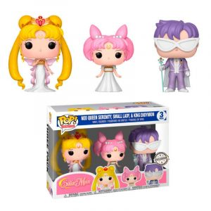 Pack 3 Funko Pop! Neo Queen Serenity, Small Lady & King Endymon [Sailor Moon]