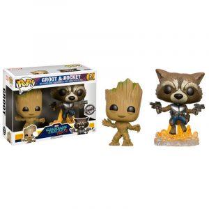 Pack 2 Funko Pop! Groot & Rocket [Guardianes de la Galaxia]