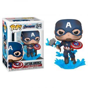 Funko Pop! Capitán America (Con escudo & Mjolnir) [Avengers: Endgame]