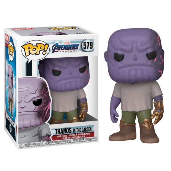 Figura POP Marvel Vengadores Endgame Casual Thanos with Gauntlet