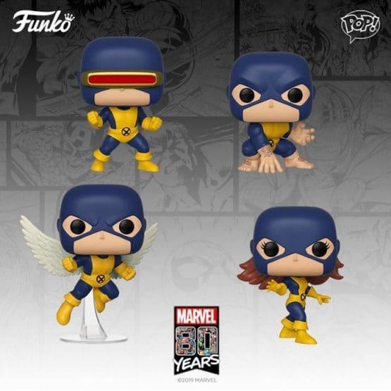 Pack 4 Funko Pop! X-Men [Marvel 80th]
