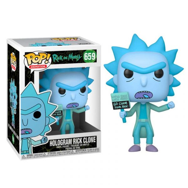 Figura POP Rick & Morty Hologram Rick Clone