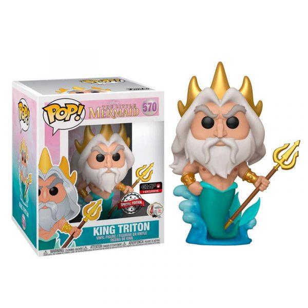 Figura POP Disney La Sirenita King Triton Exclusive 15cm