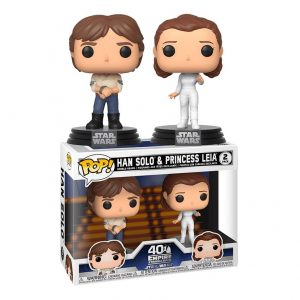 Pack 2 Funko Pop! Han Solo & Princess Leia [Star Wars]