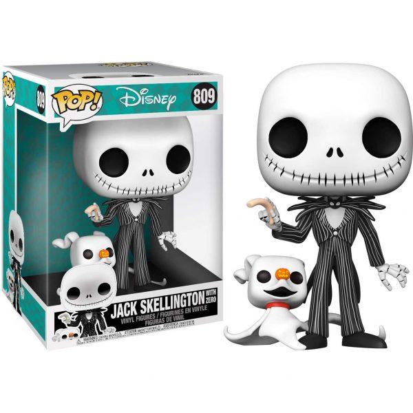 Figura POP Disney Pesadilla Antes de Navidad Jack with Zero 25cm
