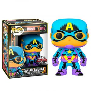 Funko Pop! Capitán América (Marvel Black Light)