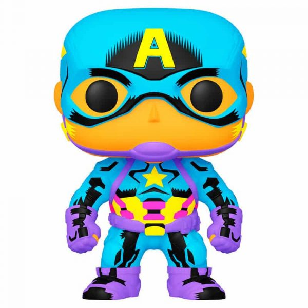Figura POP Marvel Black Light Captain America