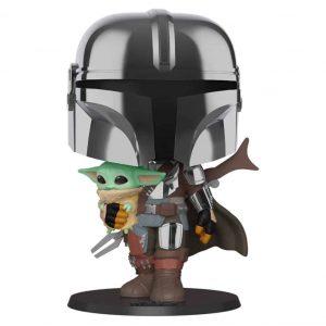 Funko Pop! Mandalorian with Yoda Child 10″ (25cm) [Star Wars Mandalorian]
