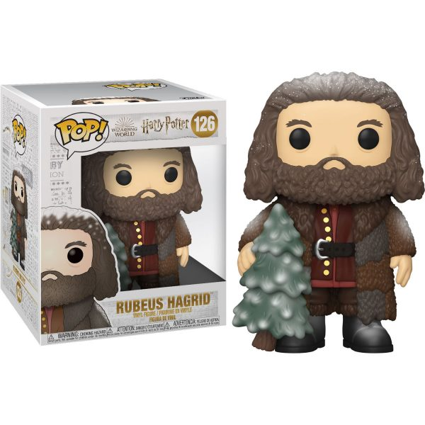 Figura POP Harry Potter Holiday Hagrid 15cm