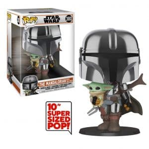 Funko Pop! The Mandalorian with The Child 10″ (25cm) (The Mandalorian)