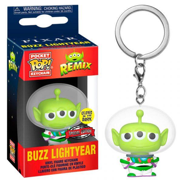 Llavero Pocket POP Disney Pixar Alien Remix Buzz Glow Exclusive