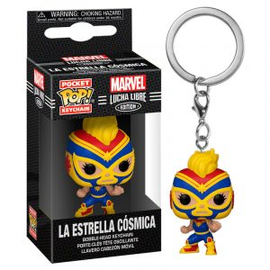 Llavero Pocket POP Marvel Luchadores Captain Marvel La Estrella Cosmica