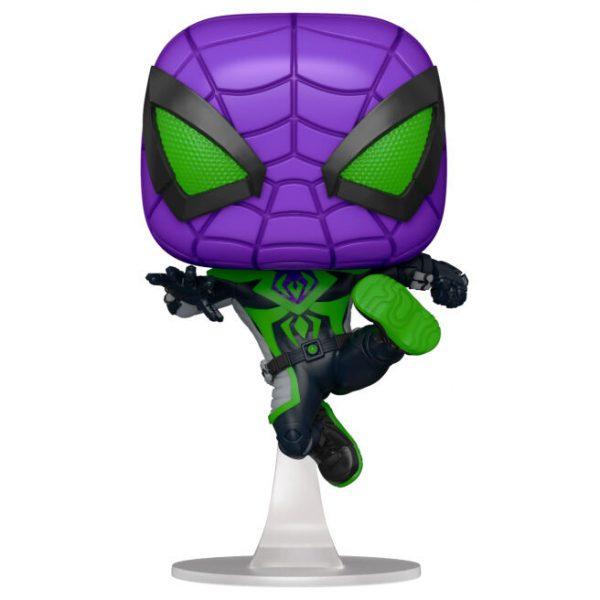 Figura POP Marvel Spiderman Miles Morales Purple Reign Suit Metallic
