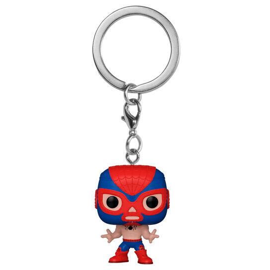 Llavero Pocket POP Marvel Luchadores Spiderman El Aracno