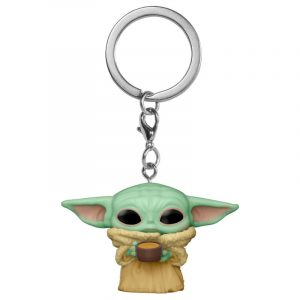 Llavero Pop! Yoda The Child with Cup (Star Wars: The Mandalorian)
