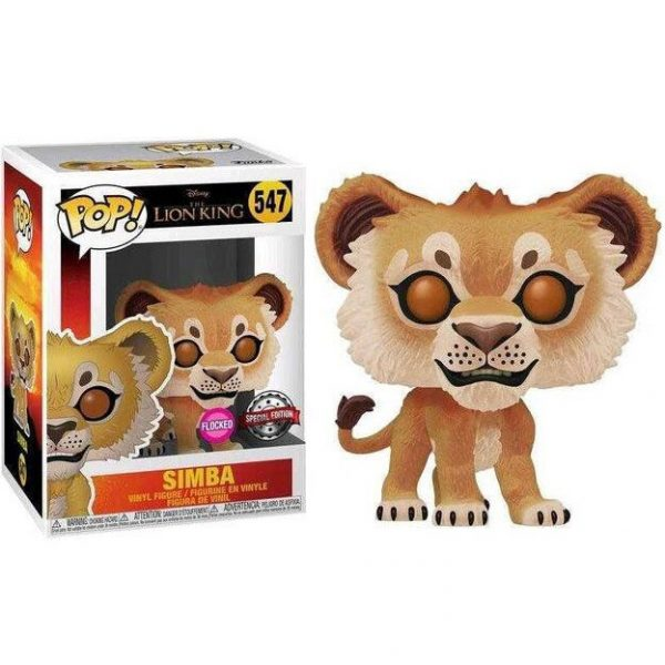 Figura POP Disney El Rey Leon Simba Flocked Exclusive