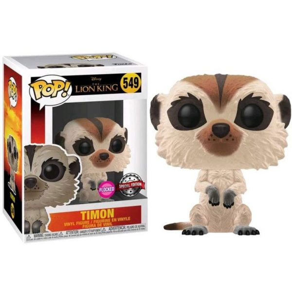 Figura POP Disney El Rey Leon Timon Flocked Exclusive
