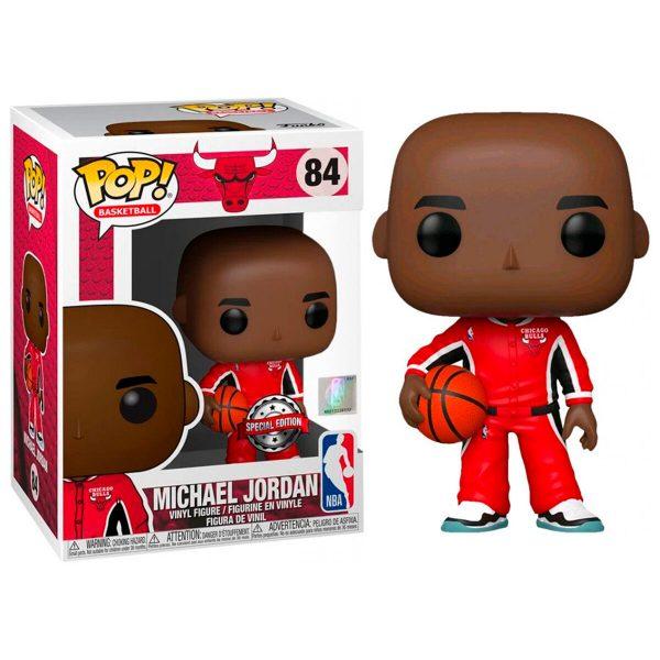 Figura POP NBA Chicago Bulls Michael Jordan Red Warm Ups Exclusive