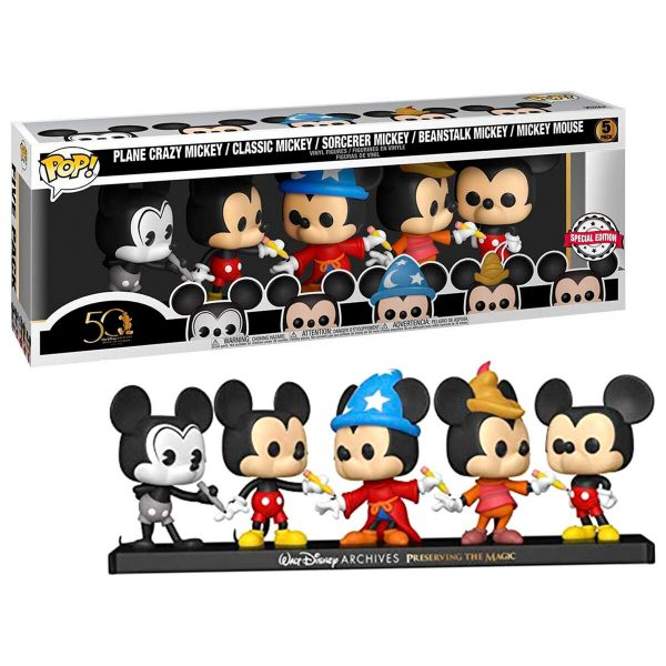 Pack 5 figuras POP Disney Archives Mickey Exclusive