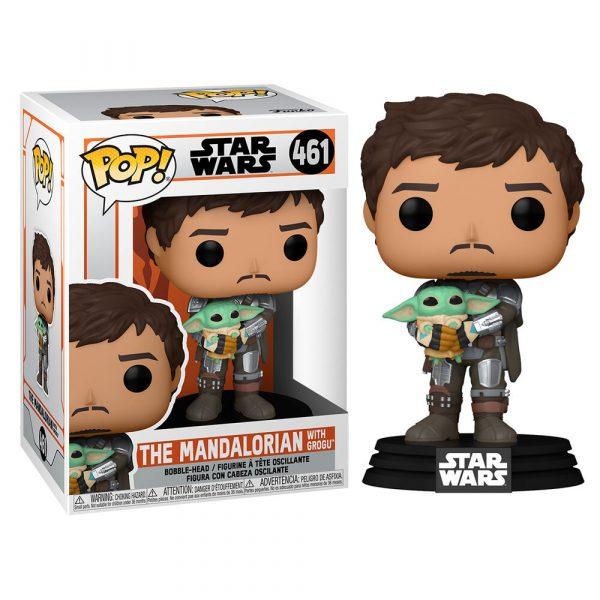 Figura POP Star Wars Mandalorian Mando Holding Child