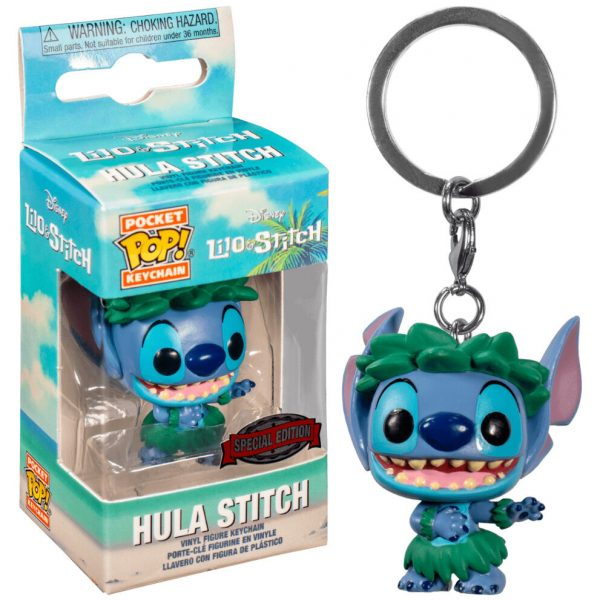Llavero Pocket POP Disney Lilo and Stitch - Stitch In Hula Skirt Exclusive