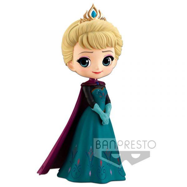 Figura Elsa Coronation Style Frozen Disney Characters Q Posket 14cm