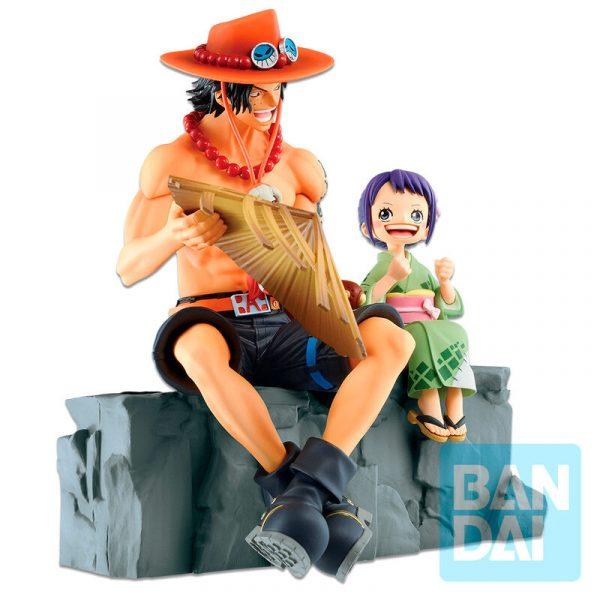 Figura Ichibansho Emorial Vignette Ace and Otama One Piece 18cm