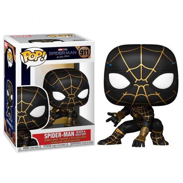 Figura POP Marvel Spiderman No Way Home Spiderman Black & Gold Suit