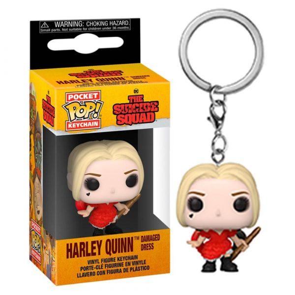 Llavero Pocket DC The Suicide Squad Harley Quinn Damaged Dress